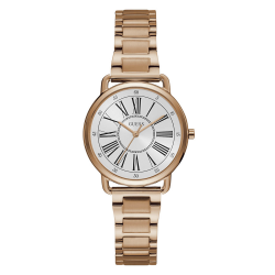 GUESS WOMEN'S ROSE GOLD TONE CASE STAINLESS STEEL  WATCH - W1148L3 image here