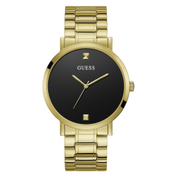 GUESS MEN'S GOLD TONE CASE STAINLESS STEEL  WATCH - W1315G2 image here