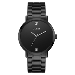 GUESS MEN'S GUNMETAL CASE STAINLESS STEEL  WATCH - W1315G3 image here