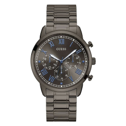 GUESS MEN'S GUNMETAL CASE STAINLESS STEEL  WATCH - W1309G3 image here