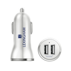 Lexingham Car Charger - 2 USB White L5420 image here