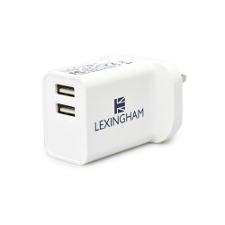 Lexingham Wall USB Charger - UK White L5430 image here