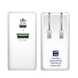 Lexingham Wall Charger – China/USA 2 Port PD + 2.4 Amp L5501 image here