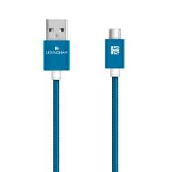 Lexingham Micro USB Cable Metallic Blue L5750 image here