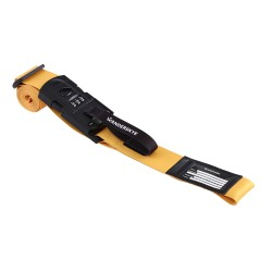 Wanderskye Gen Z Yellow Luggage Strap with Digital Weighing Scale image here