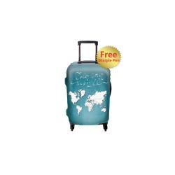 COLOR YOUR WORLD LUGGAGE COVER WITH FREE SHARPIE SMALL image here