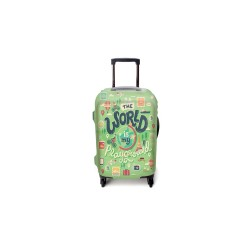WORLD IS MY PLAYGROUND LUGGAGE COVER SMALL image here