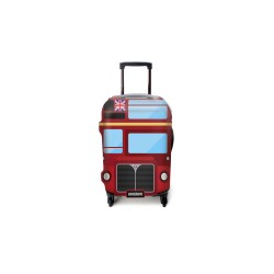 LONDON DOUBLE DECKER BUS LUGGAGE COVER MEDIUM image here