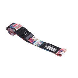 Wanderskye Travel Stamps Luggage Strap with Combination Lock Blue 1000357 image here