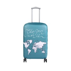 Wanderskye Green Color Your World Luggage Cover with Free Sharpie - Medium image here