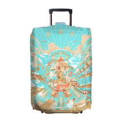 Wanderskye, GLIMPSE OF THE PHILIPPINES LUGGAGE COVER SMALL, Blue, GP-5801-01 image here