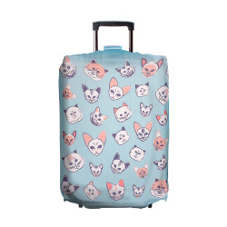 Wanderskye, COOL CATS LUGGAGE COVER MEDIUM, Blue, CC-5807-02 image here