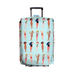 Wanderskye, CHEEKY CHIKAS LUGGAGE COVER LARGE, Blue, CC-6102-03 image here