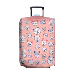 Wanderskye, CANINE WONDER LUGGAGE COVER SMALL, Pink, CW-5807-01 image here
