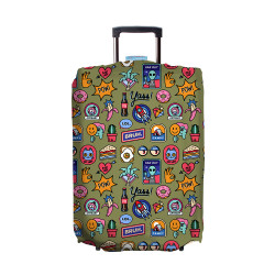 Wanderskye, POP STICKERS LUGGAGE COVER LARGE, Green, PS-5807-03 image here