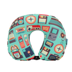 Wanderskye, RETRO 2 IN 1 NECK PILLOW WITH BLANKET, Green, R-5701 image here
