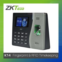 ZKTeco Fingerprint & Contactless ID K14 Biometrics image here