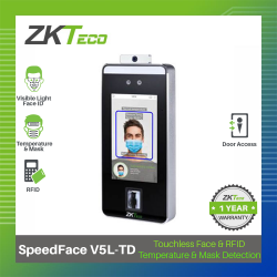 ZKTeco Face, Fingerprint & Touchless Palm SPEEDFACE V5L-TD Biometrics image here