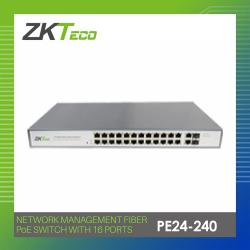 ZKTECO NETWORK MANAGEMENT FIBER PoE SWITCH WITH 24 PORTS (PE24-240) image here