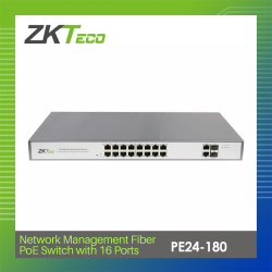 ZKTECO NETWORK MANAGEMENT FIBER PoE SWITCH WITH 16 PORTS (PE16-180) image here