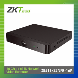 ZKTeco 16-channel 4K Network Video Recorder (Z8516/32NFR-16P) image here