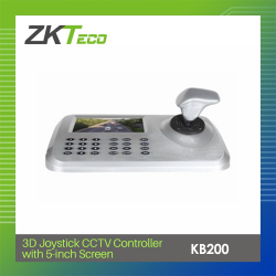 ZKTECO 3D JOYSTICK CCTV CONTROLLER WITH 5-INCH SCREEN (KB200) image here