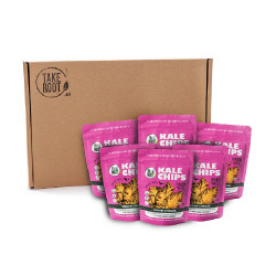 Vegan Cheeze Kale Chips 35g Box of 6 image here