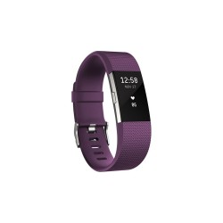 FITBIT CHARGE 2 HEART RATE + FITNESS WRISTBAND - LARGE (PLUM) image here