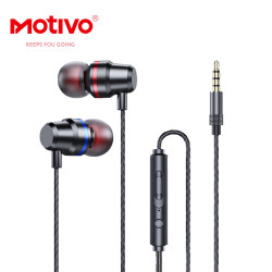 MOTIVO H10 120cm in-ear headphones with microphone and 3.5mm HIFI volume control headphones image here