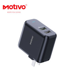 Motivo N10 Universal Travel Wall Charger/Adapter 2-in-1 Dual USB Output image here