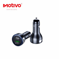 Motivo D10 2-port USB Mobile Car Charger Adapter w/ Quick Charge 3.0 image here