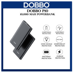 Dobbo P10 10000 mAh Power Bank LED Digital Display Lightweight Fast Charging image here