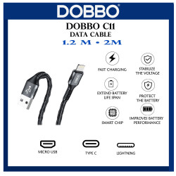 100% original support COD  Dobbo C11 2.8A 1.2 M Fast Charging Wired Cable image here