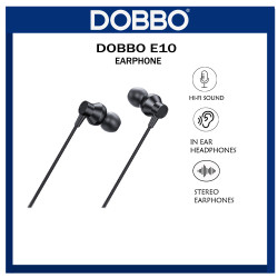 【100% original COD】 Dobbo E10 Wired Earphone HiFi Sound w/Built-in Microphone And Volume Control image here
