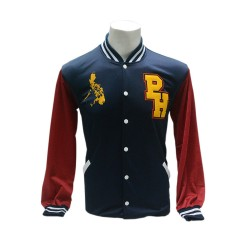 PERFECT MOMENTS PHILIPPINES SOUVENIRS, VARSITY JACKET, BLUE,VJ002002TRICOLOR image here