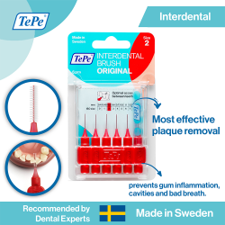 TePe Original Interdental Brush-Red image here