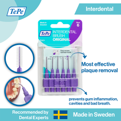 TePe Original Interdental Brush-Purple image here