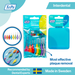 TePe Original Interdental Brushes Mixed Pack + Case image here