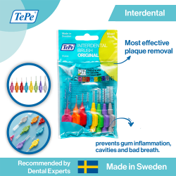 TePe Original Interdental Brushes Mixed Pack - ISO size 0-7 image here