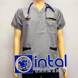 SCRUBSUIT Workwear Doctor Nurse Uniform Unisex Polycotton Set 01B Regular 2 Pocket Pants Color Light Grey image here