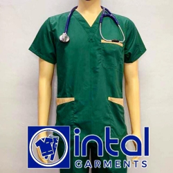 SCRUBSUIT Workwear Doctor Nurse Uniform Unisex Polycotton Set 01B Regular 2 Pocket Pants Color Forest Green Khaki image here