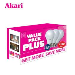 Akari 7 Watts LED Bulb Value Pack - Daylight (APLED3-7DL-VP2) TRIO PACK image here