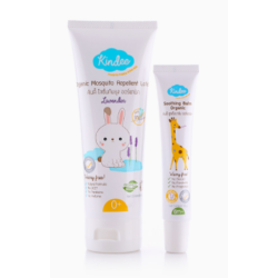 Kindee Organic Mosquito Repellent Lavender Lotion Giftset (Lavender Lotion 80 ML + Soothing Balm 15 G) For newborn & up image here
