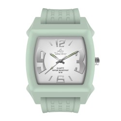UniSilver TIME Kandy Krushhh (Regular Size) Unisex Mint Green / Off-White Analog Rubber Watch KW479-3440 image here