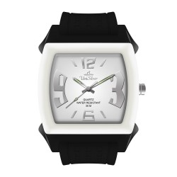 UniSilver TIME Kandy Krushhh (Regular Size) Unisex Black / Off-White / White Analog Rubber Watch KW479-2112 image here