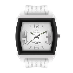 UniSilver TIME Kandy Krushhh (Regular Size) Unisex White / Black Analog Rubber Watch KW479-2223 image here