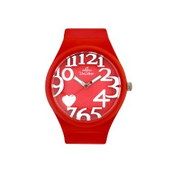UNISILVER TIME HEARTS WOMEN'S RED RUBBER WATCH KW1268-2003   image here