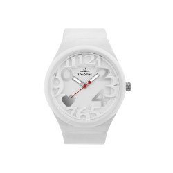 UNISILVER TIME HEARTS WOMEN'S WHITE RUBBER WATCH KW1268-2005   image here