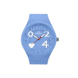 UNISILVER TIME HEARTS WOMEN'S TURQUOISE RUBBER WATCH KW1268-2015   image here