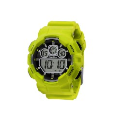 UNISILVER TIME URBANITE DIGITAL MEN'S LIME GREEN RUBBER STRAP WATCH KW1491-1006   image here